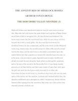 Tài liệu LUYỆN ĐỌC TIẾNG ANH QUA TÁC PHẨM VĂN HỌC-THE ADVENTURES OF SHERLOCK HOMES -ARTHUR CONAN DOYLE 4-3 ppt