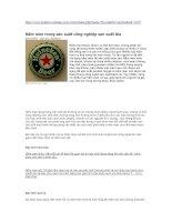 Tài liệu Nấm men trong sản xuất công nghiệp sản xuất bia doc