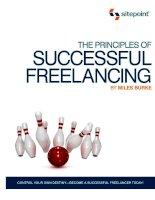 Tài liệu The Principles of Successful Freelancing docx