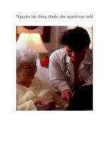 Tài liệu Nguyên tắc dùng thuốc cho người cao tuổi doc