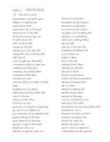 Từ vựng và Ngữ pháp tiếng Anh 10 (Nâng cao) - Unit 1 to 8