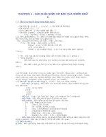 Tài liệu CÁC KHÁI NIỆM CƠ BẢN CỦA NGÔN NGỮ C docx