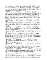 Tài liệu Bài tập trắc nghiệm vật lý phần Hạt nhân ppt