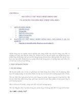 Tài liệu Nguyên lý thứ nhất nhiệt động học và áp dụng vào hóa học_chươn 1 docx