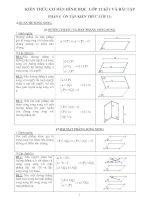 Tài liệu Kiến thức cơ bản hình học lớp 12 doc