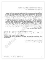 Tài liệu HƯỚNG DẪN MỘT SỐ KỸ THUẬT TRONG MICROSOFT POWER POINT pdf
