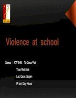 Tài liệu Violence at school ppt
