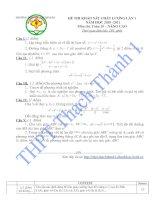 Gián án Đề thi - Đáp án Toán 10 - Thi kiểm tra chất lượng lần 1