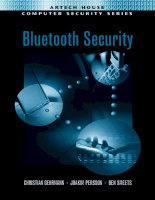 Tài liệu Artech.House.Publishers.Bluetooth.Security ppt
