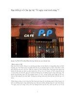 Tài liệu Bạn biết gì về câu lạc bộ '''' Vì ngày mai tươi sáng''''? pptx