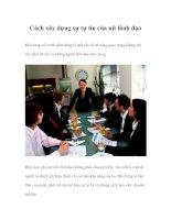 Tài liệu Cách xây dựng sự tự tin của nữ lãnh đạo docx