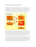 Tài liệu Thay đổi cách quản lý như thế nào? pptx
