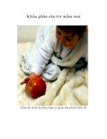 Tài liệu Khẩu phần cho trẻ mầm non pptx