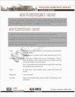 Tài liệu English for Business (Lesson 20) pdf