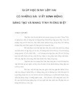 Tài liệu GIÚP HỌC SINH LỚP HAI CÓ NHỮNG BÀI VIẾT SINH ĐỘNG SÁNG TẠO VÀ MANG TÍNH RIÊNG BIỆT pdf