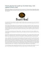 Tài liệu 6 bước giúp bạn trao quyền lực cho khách hàng - kinh nghiệm từ Boar′s Head Những doc