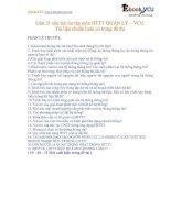 Giải 21 câu hỏi ôn tập môn HTTT QUẢN LÝ – VCU  Tài liệu chuẩn luôn có trong đề thi