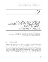 Tài liệu Kalman Filtering and Neural Networks P2 doc