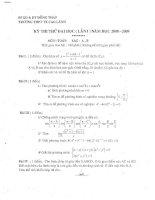 Tài liệu Đề thi thử đại học môn Toán khối A, B và đáp án (2008-2009) pdf