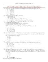 Tài liệu 200 câu trắc nghiệm về dao động có đáp án docx