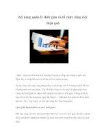 Tài liệu Kỹ năng quản lý thời gian và tổ chức công việc hiệu quả docx
