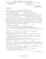 ĐỀ KHẢO SÁT CHẤT LƯỢNG ÔN THI ĐẠI HỌC LẦN 2 MÔN SINH TRƯỜNG THPT THUẬN THÀNH SỐ 1