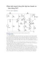 Tài liệu Phân tích mạch khuyếch đại âm thanh cơ bản dùng BJT doc