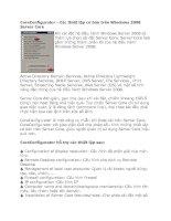 Tài liệu CoreConfigurator - Các thiết lập cơ bản trên Windows 2008 Server Core pdf
