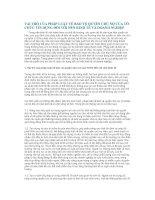 Tài liệu VAI TRÒ CỦA PHÁP LUẬT VỀ BẢO VỆ QUYỀN CHỦ NỢ CỦA TỔ CHỨC TÍN DỤNG ĐỐI VỚI NỀN KINH TẾ VÀ DOANH NGHIỆP pdf