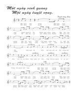 Tài liệu Bài hát một ngày vinh quang một ngày tuyệt vọng - Trịnh Công Sơn (lời bài hát có nốt) docx