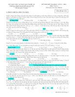 Tài liệu Đề và đáp án thi thử ĐH lần 1. THPT Nguyễn Xuân Ôn