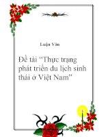 """Tài liệu Đề tài """"Thực trạng phát triển du lịch sinh thái ở Việt Nam"""" docx"""