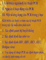 Tài liệu Bài thuyết trình Kỹ thuật PCR và Ứng dụng trong Y học ppt