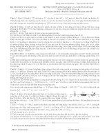 Tài liệu Đề thi ĐH môn Vật lý khối A 2005 pdf