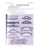 Tài liệu Bài giảng kết cấu gỗ - Chương V: Kết cấu gỗ chịu lực doc