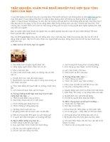 Tài liệu TRẮC NGHIỆM: KHÁM PHÁ NGHỀ NGHIỆP PHÙ HỢP QUA TÍNH CÁCH CỦA BẠN pdf