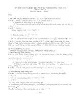 Bài giảng Đề on thi TN THPT môn Toán năm 2010 số 2