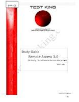 Tài liệu Study Guide Remote Access 3.0 (Building Cisco Remote Access Networks) Version 1 ppt