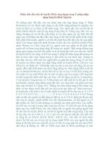 Tài liệu Phân tích cấu trúc di truyền DNA: Ứng dụng trong y pháp nhận dạng pptx