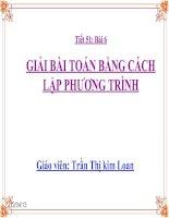 Gián án Giai bai toan bang cach lap phuong trinh full.ppt