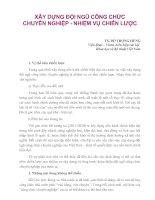 Tài liệu XÂY DỰNG ĐỘI NGŨ CÔNG CHỨC CHUYÊN NGHIỆP - NHIỆM VỤ CHIẾN LƯỢC doc