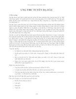 Tài liệu UNG THƯ TUYẾN DẠ DÀY pptx