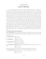 Tài liệu Chương 8: Đại số Bool doc