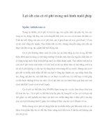 Tài liệu Lợi ích của cá rô phi trong mô hình nuôi ghép pdf