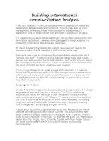 Tài liệu Building international communication bridges. pptx