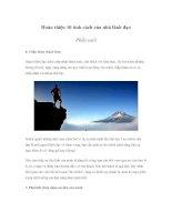 Tài liệu Hoàn thiện 10 tính cách của nhà lãnh đạo Phần cuối pdf