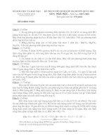 Gián án Đề thi vào lớp chuyên Hóa Trường quốc học Huế năm học 07-08