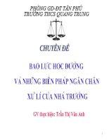 Tài liệu Bạo lực học đường-THCS Quang Trung, Tân phú