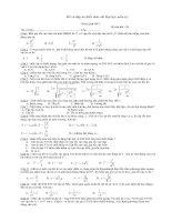 Tài liệu Đề và đáp án kiến thức thi đại học môn Lý doc