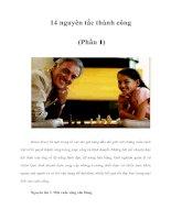Tài liệu 14 nguyên tắc thành công (Phần 1) pdf